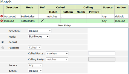 EdgeMarc Default Rule Settings